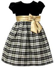 Jayne Copeland Little Girls Velvet Plaid Dress Size 5