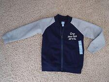 New*Gap Toddler Boy's Zip-Up Sweatshirt in Size 5 Years*BabyGap*Navy Blue/Gray