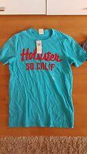 NEU Hollister A&F T-Shirt Herren M S türkis Herrenshirt Jungen 176 170 Stickerei