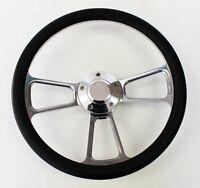 "74-94 Chevy Cheyenne Scottsdale Silverado S10 Black & Billet Steering Wheel 14"""