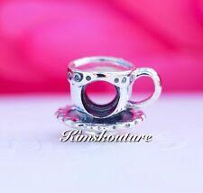 Authentic Pandora Teacup & Saucer Silver PANDORA Charm - 790361