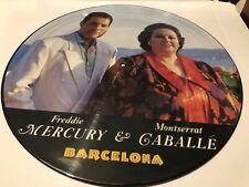 """Queen Freddie Mercury Barcelona Original Uk 1987 12"""" Picture Disc Excellent"""