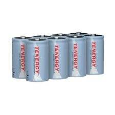 Tenergy 8PCS Size D 10000mAh High Capacity NiMH Rechargeable Batteries Cell 1.2V