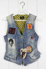 Button Clubwear Regular Size Waistcoats for Women