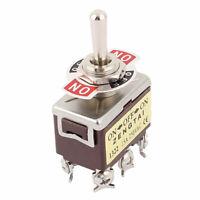 AC 250V/15A on/off/on 3posición 6terminales DPDT Toggle Interruptor