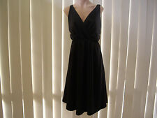 SOON  SOPHIE DRESS 10 BLACK SATIN NWT OCCASION KNEE LENGTH SLEEVELESS M/WASH