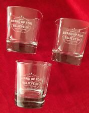 """Set of 3 Jack Daniel's Glasses """"When you stand up for What you Believe in"""" (#619"""