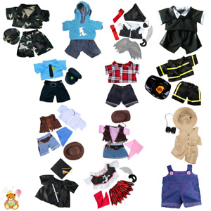 """Teddy Bear Clothes to fit 8"""" / 20cm Teddies & our 8"""" bears - army,tuxedo,pirate"""