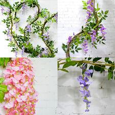 2M Artificial Silk Wisteria Vine Ratta Silk Hanging Flower Wedding Party Decor