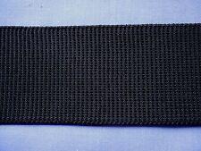 50mm Black Ribbed Non Roll Elastic