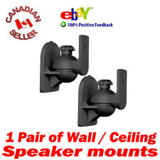 2 Universal Speaker Wall Mount Bracket Swivel Black perfect bose cube & more