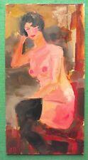 ORIGINALE IMPRESSIONISTA pittura ad olio nudo occhi chiusi pensiero da Alexei petrenko