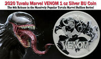 2020 Tuvalu Venom 1 oz .9999 Fine Silver Marvel Series $1 Coin GEM BU BACKORDER