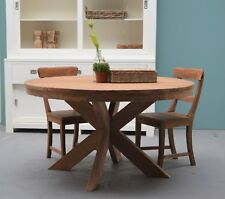 Teak Teakwood Dining Room Table Board Dinnertisch Garden Beek round 130cmx78cm