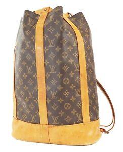 Authentic LOUIS VUITTON Randonnee GM Monogram Backpack Shoulder Bag #39324