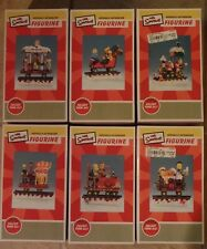 The Simpsons Hamilton Collection of 6 Christmas Train Figurines 2003 NEW MINT