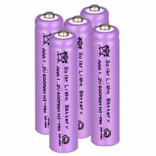 Lot of 5pcs AAA Solar Light 1.2V 600mAh NiMH Rechargeable Batteries For Lights