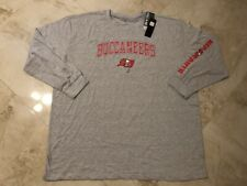 Tampa Bay Buccaneers Long Sleeve T-Shirt 4XL Specialty Double Logo Plus Size NFL