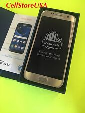 New Samsung Galaxy S7 SM-G930a 32GB Gold (AT&T) Smartphone Factory Unlocked