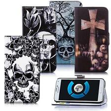 Skull Style Totenkopf Design Handy Tasche Schutz Hülle Book Cover Flip Case Etui