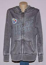 Pittsburgh Steelers Womens Sport Princess Hoodie Full Zip Sweatshirt S - NFL