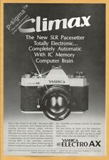 YASHICA ELECTRO AX camera 1972 Vintage Print Ad