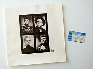 RARE DEPECHE MODE 1988 Music For The Masses concert TICKET STUB & Photo Book