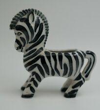 Vintage Pottery Zebra Figurine