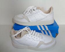 Adidas Nuevo Para hombres Cuero Blanco Beige supercourt Casual Zapatillas Zapatos Uk Size 12