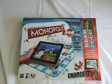 New MONOPOLY ZAPPED EDITION BOARD GAME Hasbro Kids Family Ipad Apple Iphone