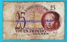 More details for netherlands p77 25 gulden the girl by johanes vespronk #3bb 049394 7.5.1945 rare