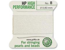 HP ad alte prestazioni filo di seta bianco INCORDATRICE 0.80mm Griffin Taglia 8-FT799