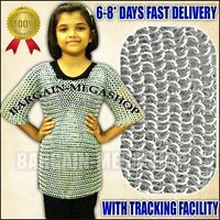 Aluminum Chainmail Shirt,Medieval Children Size 6-9 yr Chain Mail Armor Costume