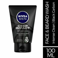 Nivea Men Deep Impact Intense Clean Face & Beard Wash 100ml Intense Cleansing