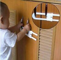 2 Sliding Cabinet Locks - Edealing U Shaped Child Safety Locks Baby Proof Cabine