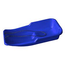 Snow Sledge Blue Kids Heavy Duty Toboggan Sleigh Rope Plastic Adults Ski Board