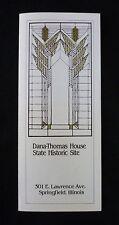 Dana-Thomas House (Frank Lloyd Wright) Souvenir Brochure - Springfield, Illinois