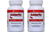 AdderRx adderall alt ADD/ADHD Increase Mental Focus & Energy 2 bottles 60 caps