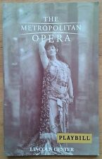 Don Giovanni Playbill programme Lincoln Center 27/03/2004 The Metropolitan Opera
