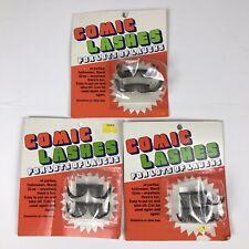 Comic Lashes For Lots of Laughs Vintage Oversize Clown Gag Halloween New
