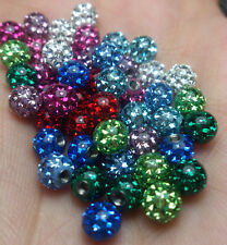 Ferido Czech Crystal Balls 1.6*5mm Epoxy Coated Mix 10 Colors 50 Pieces/1Set