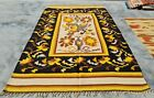 Authentic Hand Knotted Vintage Mexico Wool Kilim Kilm Area Rug 7.3 x 4.5 Ft