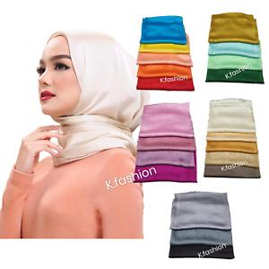 New Top Quality SHINY SILKY Maxi Hijab Scarf Scarves Headwrap Shawl For Wedding