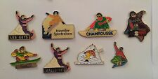Lot de 8 PIN'S PIN PINS SPORT DE GLISSE SKI SURF DES NEIGES SNOWBOARD