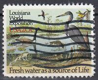 USA Briefmarke gestempelt 20c Louisiana World Exposition Tiere / 351