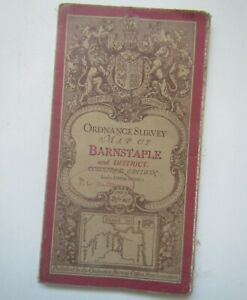 Old Ordnance Survey Road Map of Barnstaple and District 1911 - Sheet 119