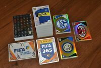 2017-18 Panini FIFA 365 full set stickers: 1-542+ E1-E60. Total 602 stickers.
