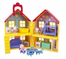 Peppa Pig George Suzy Deluxe Toy Doll House Travel Playset Kitchen Bedroom 15pc