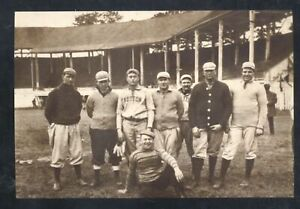 REAL PHOTO BOSTON RED SOX 1907 LITTLE ROCK ARKANSAS SPRING POSTCARD COPY
