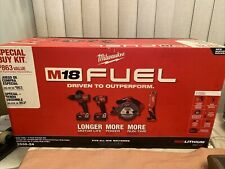 Milwaukee 2998-24 4 Tools Cordless Combo Kit with 2 Batteries, Charger & Bag New